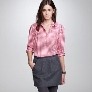J. Crew Gingham The Perfect Shirt | Size 6